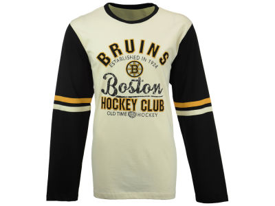 Boston Bruins Old Time Hockey NHL Men's Chisel Long Sleeve T-Shirt