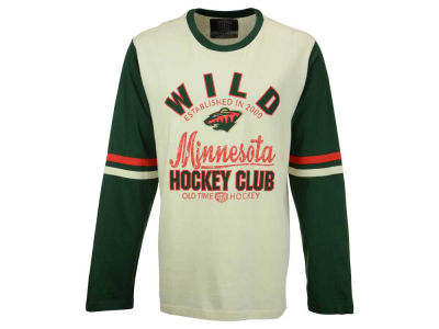 Minnesota Wild Old Time Hockey NHL Men's Chisel Long Sleeve T-Shirt