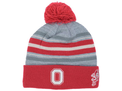 Ohio State Buckeyes J America NCAA Pom Sock Stripes Knit