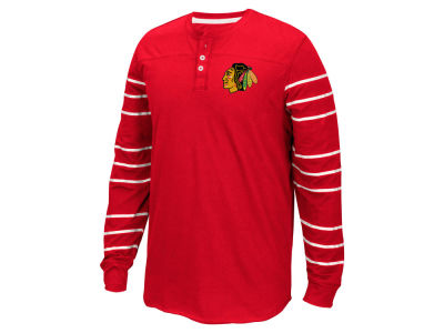 Chicago Blackhawks Reebok NHL Men's Long Sleeve Henley Shirt