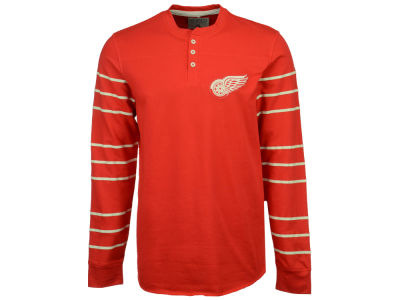 Detroit Red Wings Reebok NHL Men's Long Sleeve Henley Shirt