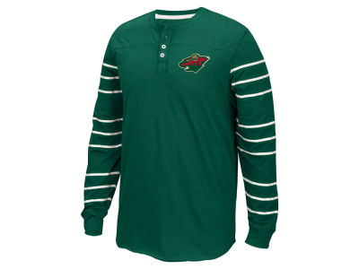 Minnesota Wild Reebok NHL Men's Long Sleeve Henley Shirt