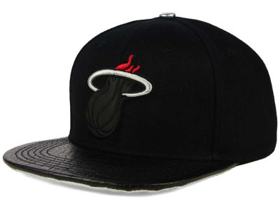 Miami Heat Pro Standard NBA Reflective Leather Strapback Cap