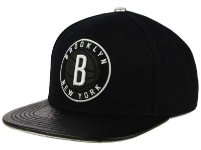 Brooklyn Nets Pro Standard NBA Reflective Leather Strapback Cap