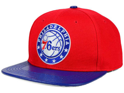 Philadelphia 76ers Pro Standard NBA Real Leather Strapback Hat