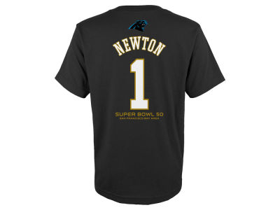 Carolina Panthers Cam Newton Outerstuff NFL Toddler Super Bowl 50 Gold Player T-Shirt