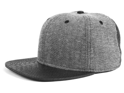 LIDS Private Label Chambray Leather Snapback Hat