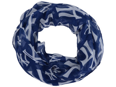 New York Yankees All Over Logo Infinity Wrap Scarf