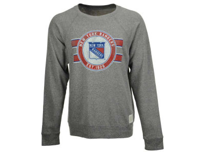 New York Rangers Retro Brand NHL Men's Tri-Blend Crew Neck Sweatshirt