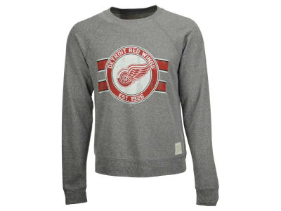 Detroit Red Wings Retro Brand NHL Men's Tri-Blend Crew Neck Sweatshirt