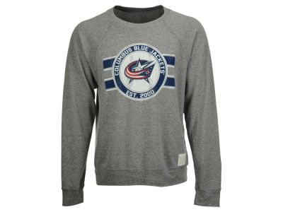 Columbus Blue Jackets Retro Brand NHL Men's Tri-Blend Crew Neck Sweatshirt