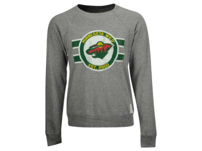 Minnesota Wild Retro Brand NHL Men's Tri-Blend Crew Neck Sweatshirt