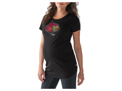 Louisville Cardinals GIII NCAA Women's Maternity Powerplay Bling T-Shirt