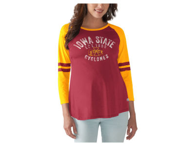 Iowa State Cyclones GIII NCAA Women's Maternity Huddle Long Sleeve Raglan T-Shirt