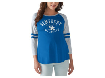 Kentucky Wildcats GIII NCAA Women's Maternity Huddle Long Sleeve Raglan T-Shirt