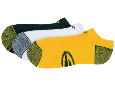 Green Bay Packers '47 3-pack Blade Motion No Show Socks