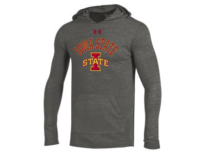Iowa State Cyclones Under Armour NCAA Men's Triblend Hooded Long Sleeve T-Shirt
