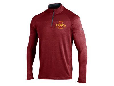 Iowa State Cyclones Under Armour NCAA Men's Tech Novelty Tonal Twist Quarter Zip Pullover