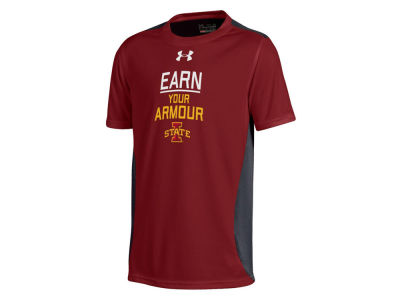 Iowa State Cyclones Under Armour NCAA Youth Colorblock Earn It Performance T-Shirt