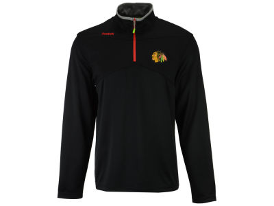 Chicago Blackhawks Reebok NHL Men's Center Ice 1/4 Zip Pullover