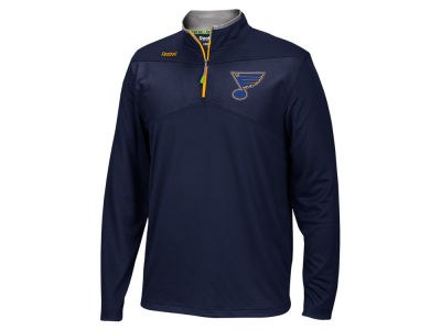 St. Louis Blues Reebok NHL Men's Center Ice 1/4 Zip Pullover