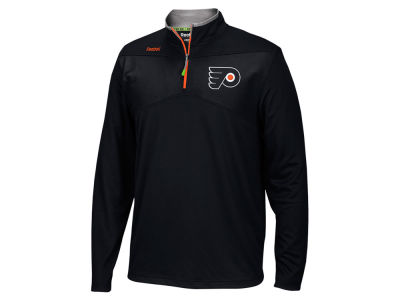 Philadelphia Flyers Reebok NHL Men's Center Ice 1/4 Zip Pullover