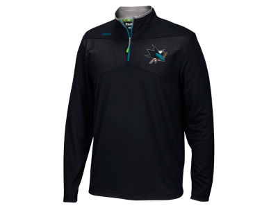 San Jose Sharks Reebok NHL Men's Center Ice 1/4 Zip Pullover