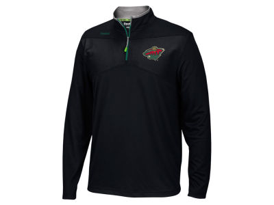 Minnesota Wild Reebok NHL Men's Center Ice 1/4 Zip Pullover