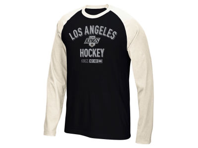 Los Angeles Kings Reebok NHL Men's CCM Long Sleeve Crew T-Shirt