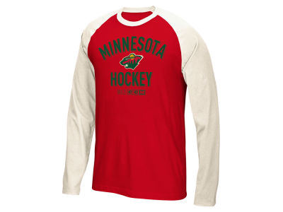 Minnesota Wild Reebok NHL Men's CCM Long Sleeve Crew T-Shirt