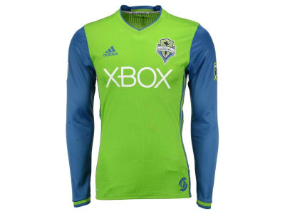 Seattle Sounders FC adidas MLS Men's Long Sleeve Primary Authentic Jersey