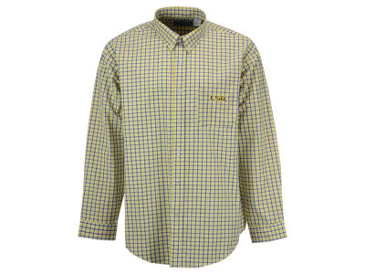LSU Tigers Vesi NCAA Men's Gingham Check Button Down Shirt