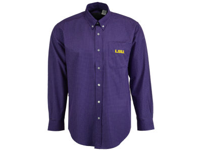 LSU Tigers Vesi NCAA Men's Box Check Button Down Shirt