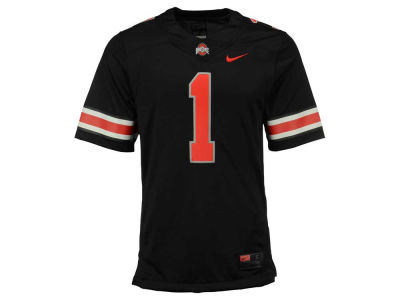 Ohio State Buckeyes #1 Nike NCAA Men's All Black Limited Football Jersey