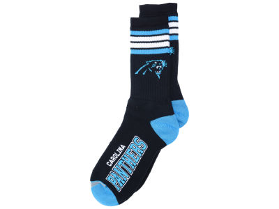 Carolina Panthers For Bare Feet 4 Stripe Deuce Crew 504 Sock
