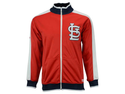 St. Louis Cardinals Mitchell and Ness MLB Men's Stitch Zip Track Jacket