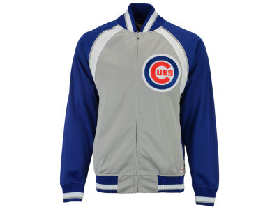 Chicago Cubs Mitchell and Ness MLB Men's Stitch Zip Track Jacket