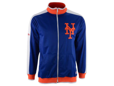 New York Mets Mitchell and Ness MLB Men's Stitch Zip Track Jacket