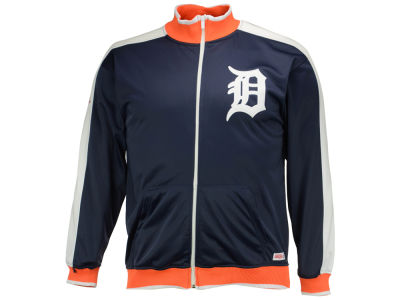 Detroit Tigers Mitchell and Ness MLB Men's Stitch Zip Track Jacket