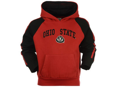 Ohio State Buckeyes NCAA Toddler Poly Fleece Sleeve Stripe Hoodie