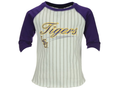 LSU Tigers NCAA Toddler 3/4 Sleeve Baseball Raglan