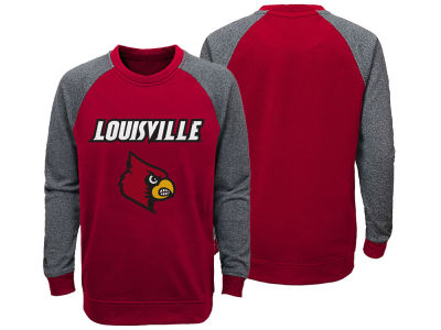 Louisville Cardinals adidas NCAA Youth Campus Ultimate Crew Fleece Sweatshirt