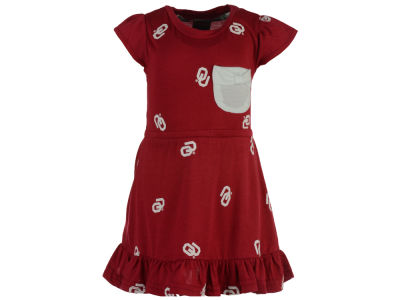 Oklahoma Sooners NCAA Infant Girls Cap Sleeve Ruffle Dress Set