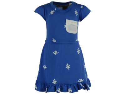 Kentucky Wildcats NCAA Toddler Girls Cap Sleeve Ruffle Dress