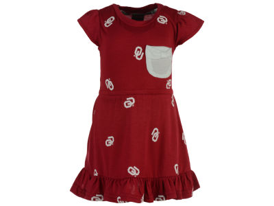 Oklahoma Sooners NCAA Toddler Girls Cap Sleeve Ruffle Dress