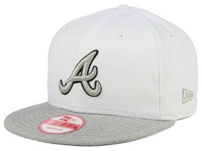 Atlanta Braves New Era MLB White Heather Gray Black 9FIFTY Snapback Cap