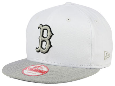 Boston Red Sox New Era MLB White Heather Gray Black 9FIFTY Snapback Cap
