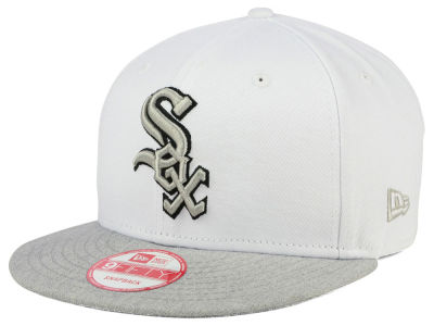 Chicago White Sox New Era MLB White Heather Gray Black 9FIFTY Snapback Cap