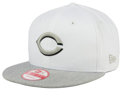 Cincinnati Reds New Era MLB White Heather Gray Black 9FIFTY Snapback Cap