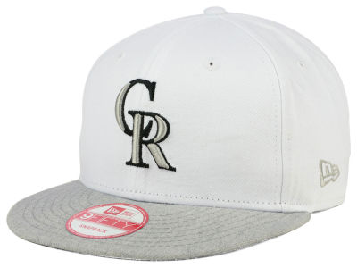 Colorado Rockies New Era MLB White Heather Gray Black 9FIFTY Snapback Cap